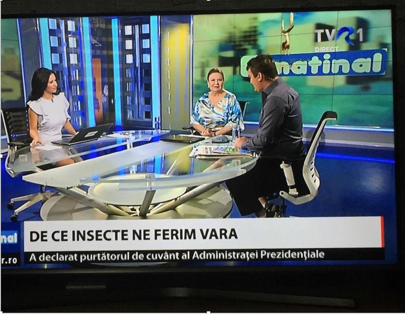 Aparitii media DrLeventerCentre Matinal TVR1 Insecte